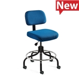 "Bevco 5600-F-CADS/5 Fabric Chair, Non-Tilt, 19"" Welded Footring, HF Casters, Adjustable Height 26""-31"", Doral Series"