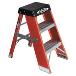 Werner SSF03 3-Foot Fiberglass Stepladder 375-Pound Load Capacity, Type IAA