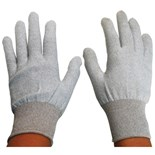 Desco 68122 ESD-Safe Dissipative Inspection Gloves, Large, Pair