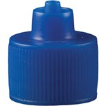 Jensen Global JGC-512B-100 Blue Luer Lock Bottle Cap, 100/Bag