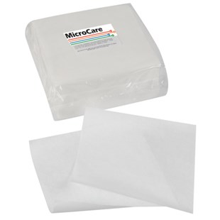 """MicroCare MCC-W99 Polyester & Cellulose Hydroentangled Wipes, 9"""" x 9"""", 300/Pklg"""