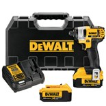 Dewalt DCF885M2 20-Volt Max Lithium-Ion 1/4 in. Cordless Impact Driver Kit
