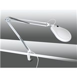 "Eclipse ProsKit 902-109 5"" Diameter White Illuminated Fluorescent Magnifier with Bench Clamp"