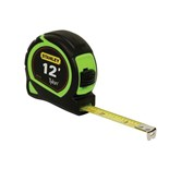 "Stanley 33-413S High-Visibility Tape Rule, 1"" x 12 ft."
