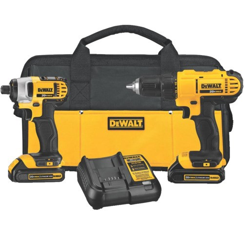 Dewalt Dck240c2 20v Max Cordless Led Lithium Ion Drill Driver And Impact Driver Kit Jensen Tools Supply