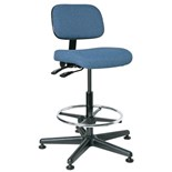 "Bevco 5501 Ergonomic Chair with Tilt Control, Blue Fabric, 23"" - 33"""