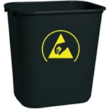 Transforming Technologies WBAS28 ESD Safe Trash Waste Can, 7 Gallons