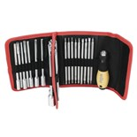 Wiha 28187 ESD Safe Drive-Loc VI Interchangeable Blade 32 Piece Set in Folding Wallet