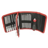 Wiha 28188 Drive-Loc VI Interchangeable Blade 32 Piece Set in Folding Wallet