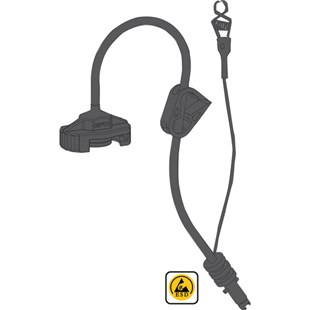 EFD 7016096 ESD-Safe Adapter Assembly with Ground Strap, 3cc, 6' Hose