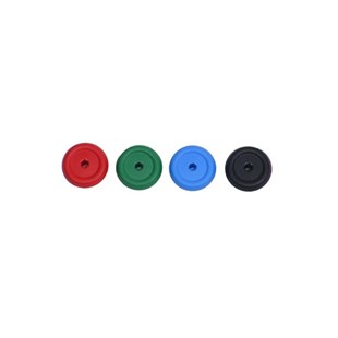 Mountz 020718 End Caps 4 Color Pack  (Red, Green, Blue, Black)