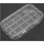 "Dewitt Plastics C1046-C Plastic Parts Box with 5 Compartments, 7-1/8"" x 4-1/16"" x 1-3/16"""