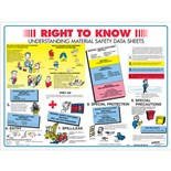 "Brady 53200 (PS139E) Right-To-Know Poster, 18"" H x 24"" W"