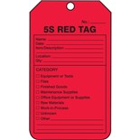 "MMT105CTP 5S Production Control Tags, 5 3/4"" X 3 1/4"", 25/Pkg"