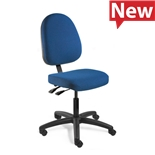 "Bevco 6001-4550S/5 Upholstered Chair, Large Back, Articulating Tilt, HF Casters, Adj. Height 18"" - 23"", Integra Series"