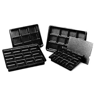 """Conductive Containers Inc. 13060 Kitting Tray 16-1/4"""" x 10-1/2"""" x 2"""" with 12 Cells"""