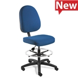 "Bevco 6500-4550S/5 Upholstered Chair, Large Back, Non-Tilt, Flat Footring, HF Casters, Adj. Ht. 25""-35"", Integra Series"