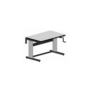 """Production Basics 2010 30"""" x 72"""" Hand Crank Adjustable Height Workstations with Standard Top"""
