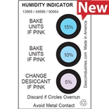 """Desco 13868 Humidity Indicator Cards, 2"""" x 3"""", 125/Can"""