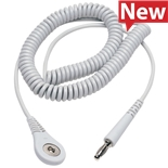 23600 Coil Cord with 4 MM Socket, Grey, 6'