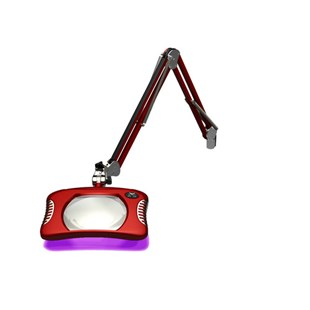 "O.C. White 82400-4-UV-BR 7"" x 5¼"" Rectangular Combination Ultraviolet/Visible LED Magnifier"