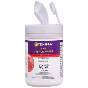Techspray 1608-100DSP Isopropyl Alcohol (IPA) Wipes - 70%, 100ct disposable tub