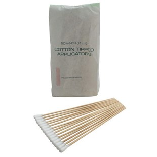 """Techni-Tool 758CH807 Techni-Tool Industrial Cleaning Swabs, Head Size 1/4"""", OAL 6"""", 100/Pkg"""