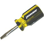 "Jensen Tools 1/4"" Slotted Screwdriver - Stubby Style"