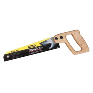 """Stanley 20-221 Mini Utility Saw - Wooden handle - 10"""" Blade - Excellent for cutting wood"""