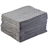 Brady BPU100 Absorbent Pads, Heavy Weight, Grey, 100/Pk