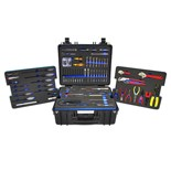 Jensen Tools JTC-17 Tool Kit W/ Foam Pallets and Heavy Duty Case