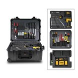 Jensen Tools Electro-Mechanical/Industrial Kit in Mil-Standard Wheeled Case
