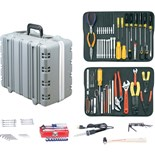 "Jensen Tools Kit in  Super Tough Case,  6-1/4"" Deep."