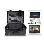 Jensen Tools Tool Kit in Water Resistant Case w/ Wheels