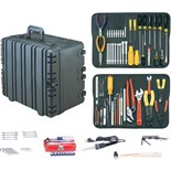 "Jensen Tools Kit in 12"" Roto-Rugged™ wheeled case"