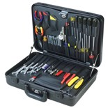 Jensen Tools JTK-32S Electronic Equipment Installation & Service Kit in Slimline Poly Attache Case