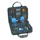 Jensen Tools JTK-44BLK Telecom Installer's Kit in Single Black Cordura Case