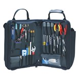 Jensen Tools JTK-45W Deluxe Telecom Installer's Kit in Single Black Cordura Zipper Case