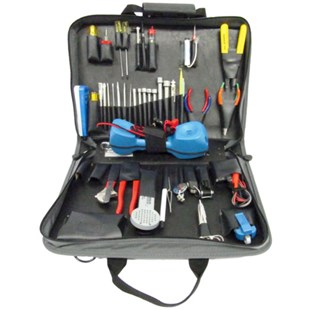 Jensen Tools JTK-46W Communications Kit with Test Equip. in Single Gray Cordura Case