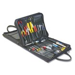 Jensen Tools JTK-47DBLB Field Engineer's Kit in Double-Sided Black Ballistic Nylon Case
