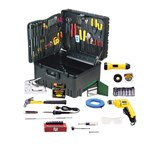 Jensen Tools JTK-53WW Deluxe Communications Kit in Roto-Rugged™ Wheeled Case