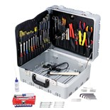 Jensen Tools JTK-55LHST Field Service Tool Kit in Gray Super Tough Case 17-3/4 x 14-1/2 x 9-1/4""