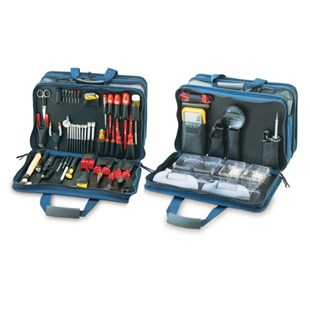 Jensen Tools Electrical Control Engineer's Kit in Blue 3-Sided Case