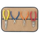 Jensen Tools JTK-82 Pliers Kit in Roll Pouch, 4pc.