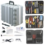 "Jensen Tools JTK-87DST3-E Inch/ Metric Kit in Super Tough Case, 9-1/4"" Deep- Contains 220V Solder Iron"
