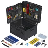 "Jensen Tools Kit in 12"" Roto Rugged™ Wheeled Case W/ Recessed Latches"
