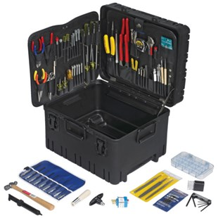 "Jensen Tools JTK-87RLC Kit in 12"" Roto Rugged™ Wheeled Case W/ Recessed Latches"