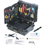 "Jensen Tools Kit in 12"" Tough Tote Horizontal Wheeled Case"