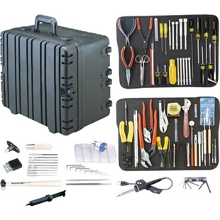"Jensen Tools Kit in 10"" Roto-Rugged™ wheeled case"