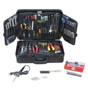 Jensen Tools Inch/MM Electro-Mechanical Kit in Black Deluxe Poly Case